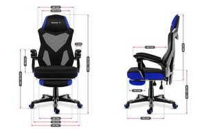 Ultra comfortable HZ-Combat 3.0 Blue gaming chair small 3