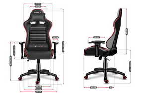 Ultra comfortable gaming chair HZ-Force 6.0 Red small 3