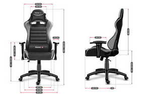 Ultra comfortable HZ-Force 6.0 Gray gaming chair small 3
