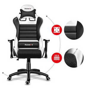 Ultra comfortable HZ-Force 6.0 White Mesh gaming chair small 2