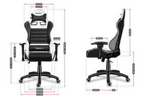 Ultra comfortable HZ-Force 6.0 White Mesh gaming chair small 3