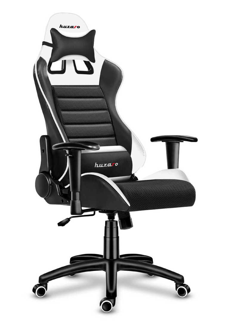 Ultra comfortable HZ-Force 6.0 White Mesh gaming chair