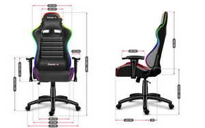 Ultra comfortable HZ-Force 6.0 RGB gaming chair small 3