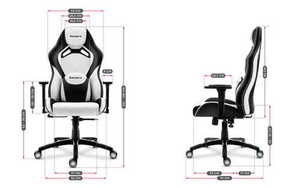 Ultra comfortable gaming chair HZ-Force 7.3 White small 3