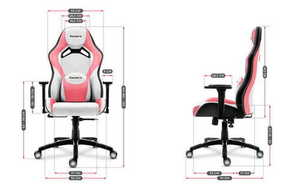 Ultra comfortable gaming chair HZ-Force 7.3 Pink small 3
