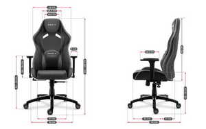 Ultra comfortable gaming chair HZ-Force 7.3 Gray small 3