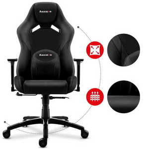 Ultra comfortable gaming chair HZ-Force 7.3 Black small 2