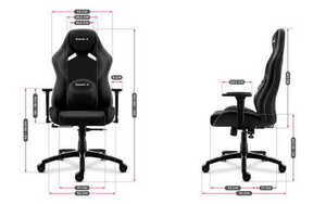 Ultra comfortable gaming chair HZ-Force 7.3 Black small 3