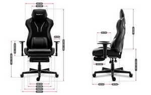 Ultra comfortable HZ-Combat 6.0 Carbon gaming chair small 3