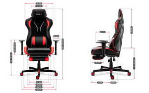 Ultra comfortable HZ-Combat 6.0 Red gaming chair small 3