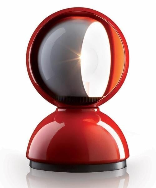 Table lamp Artemide ECLISSE red