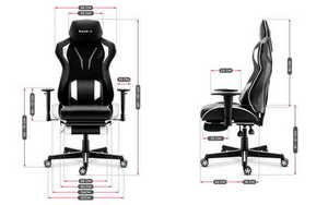 Ultra comfortable HZ-Combat 6.0 White gaming chair small 3