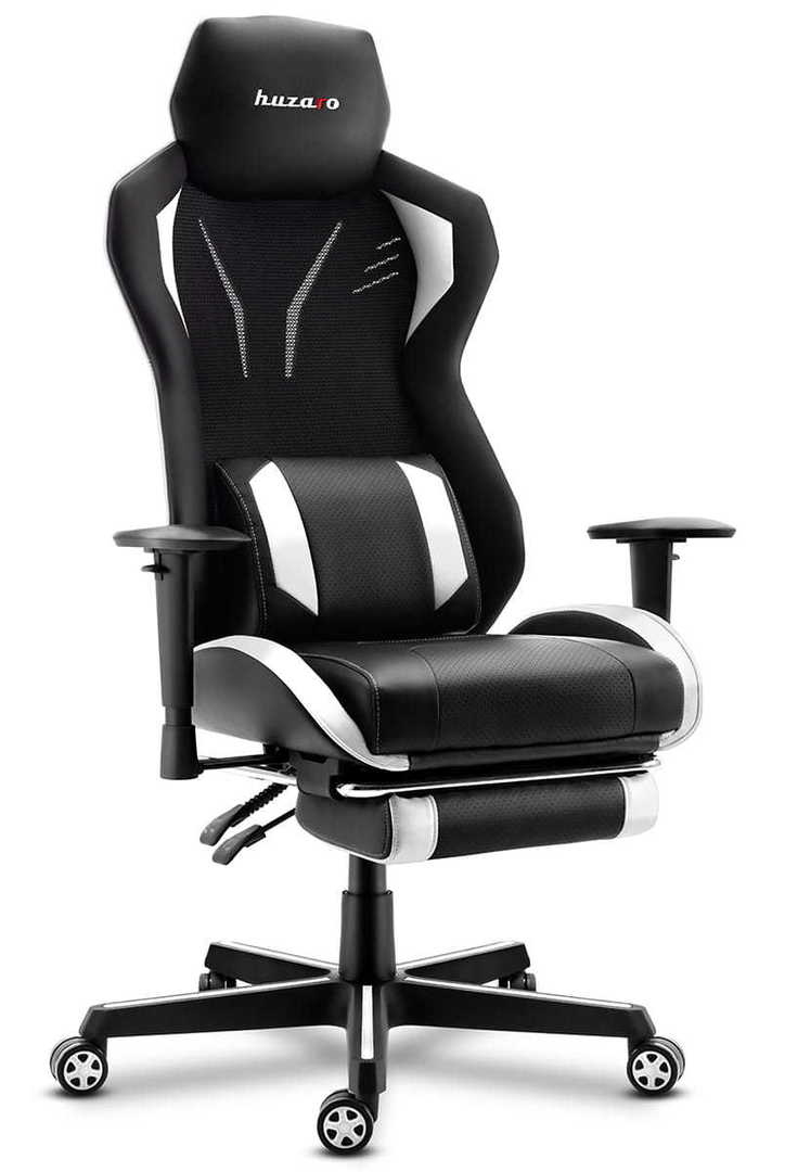 Ultra comfortable HZ-Combat 6.0 White gaming chair
