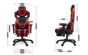 Ultra comfortable gaming chair HZ-Force 7.5 Red small 3