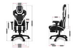 Ultra comfortable gaming chair HZ-Force 7.5 White small 3