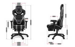 Ultra comfortable gaming chair HZ-Force 7.5 Gray small 3