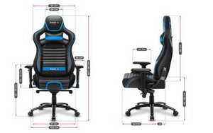 Ultra comfortable gaming chair HZ-Force 8.2 Blue small 3