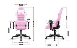 Ultra comfortable HZ-Ranger 6.0 Pink gaming chair small 3