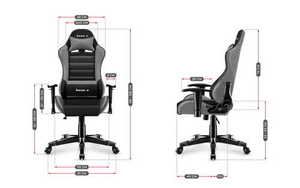 Ultra comfortable HZ-Ranger 6.0 Gray Mesh gaming chair small 3