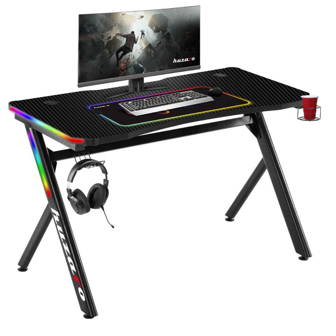 Ultra modern gaming desk HZ-Hero 4.5 RGB Lit