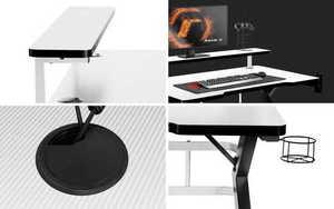 Ultra modern gaming desk HZ-Hero 5.0 White small 2