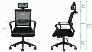 MA-Manager 2.5 Black office chair small 3