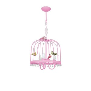 Hanging lamp Canaria Pink 3x E14 small 1