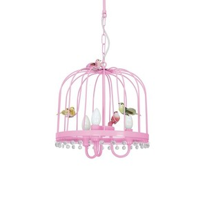 Hanging lamp Canaria Pink 3x E14 small 2