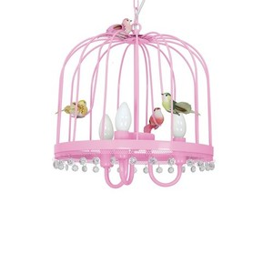 Hanging lamp Canaria Pink 3x E14 small 3