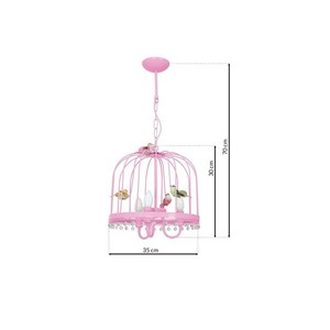 Hanging lamp Canaria Pink 3x E14 small 6