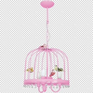 Hanging lamp Canaria Pink 3x E14 small 7