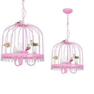 Hanging lamp Canaria Pink 3x E14 small 0