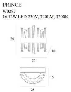 PRINCE W0287 KINKIET Max Light small 2