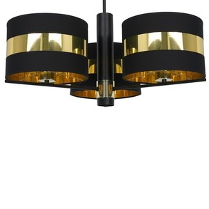 Ceiling Lamp Palmira Black / Gold 3x E27 60 W small 2