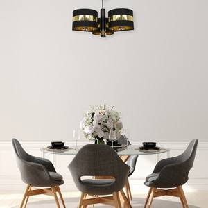 Ceiling Lamp Palmira Black / Gold 3x E27 60 W small 4