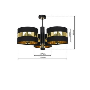 Ceiling Lamp Palmira Black / Gold 3x E27 60 W small 6