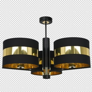 Ceiling Lamp Palmira Black / Gold 3x E27 60 W small 7