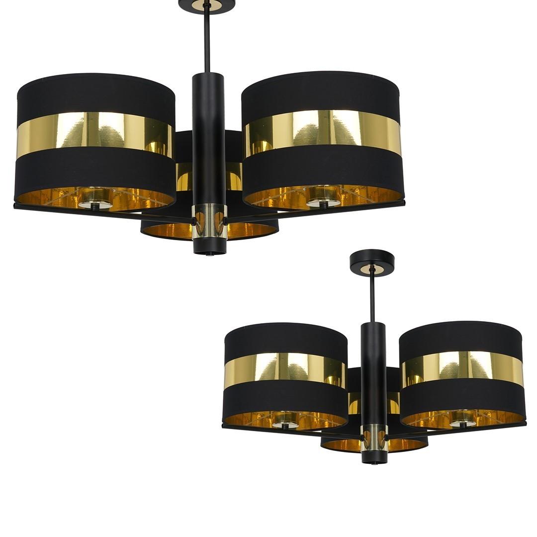 Ceiling Lamp Palmira Black / Gold 3x E27 60 W
