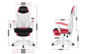 The ultra-comfortable HUZARO COMBAT 3.0 Pink Gaming Armchair small 10