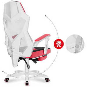 The ultra-comfortable HUZARO COMBAT 3.0 Pink Gaming Armchair small 8