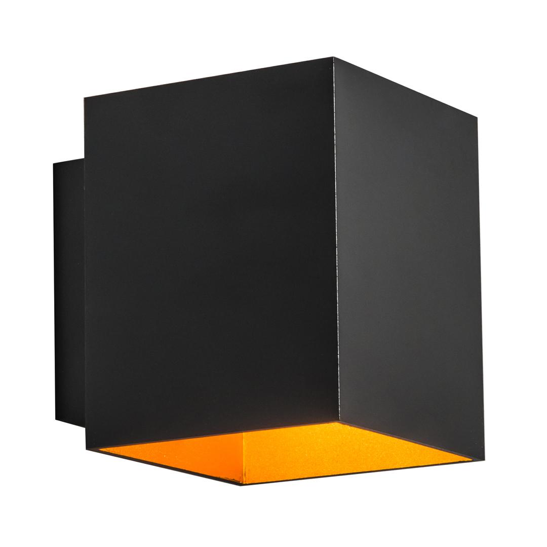 91063 Sola Wl Square Wall Lamp Black + Gold / Black + Gold