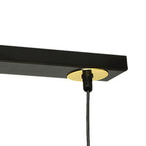 Hanging lamp Monza Black / Gold 3x G9 8 W small 3