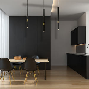 Hanging lamp Monza Black / Gold 3x G9 8 W small 4