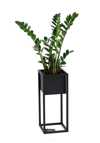 Metal flower stand for plants CUBO 50cm black loft box