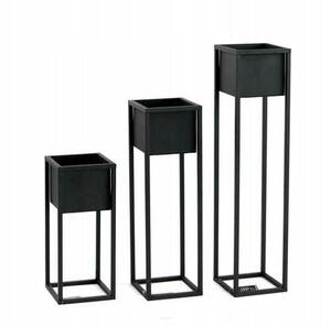 Metal flower stand for plants CUBO 50cm black loft box small 4