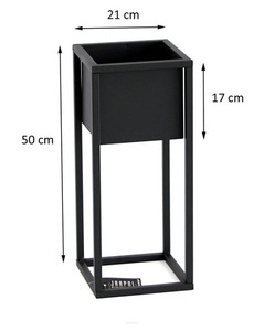 Metal flower stand for plants CUBO 50cm black loft box small 2