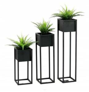 Metal flower stand for plants CUBO 50cm black loft box small 3