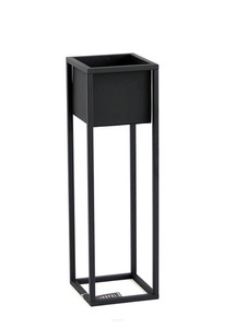 Loft flower stand metal plant stand CUBO 70cm black loft box small 1