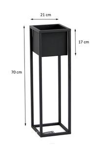 Loft flower stand metal plant stand CUBO 70cm black loft box small 3