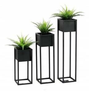 Loft flower stand metal plant stand CUBO 70cm black loft box small 0
